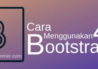 Penggunaan bootstrap 4