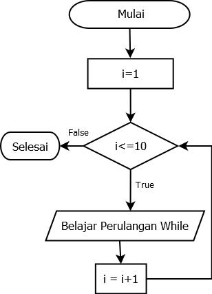 Contoh Flowchart Perulangan For While Dan Do While Kelas Programmer