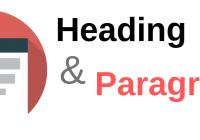 heading dan paragraf di html