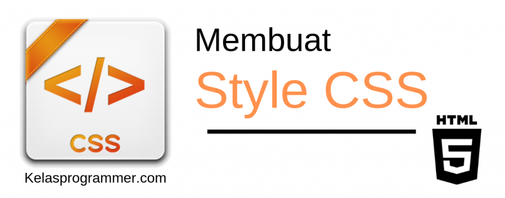 membuat style css pada html