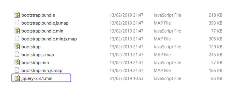 menambahkan jquery pada folder js