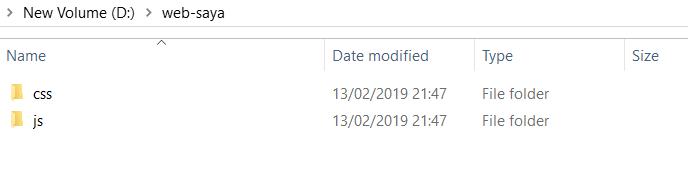 2 folder css dan js dari bootstrap