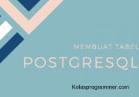 banner membuat tabel di postgresql