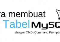Membuat tabel di mysql dengan cmd