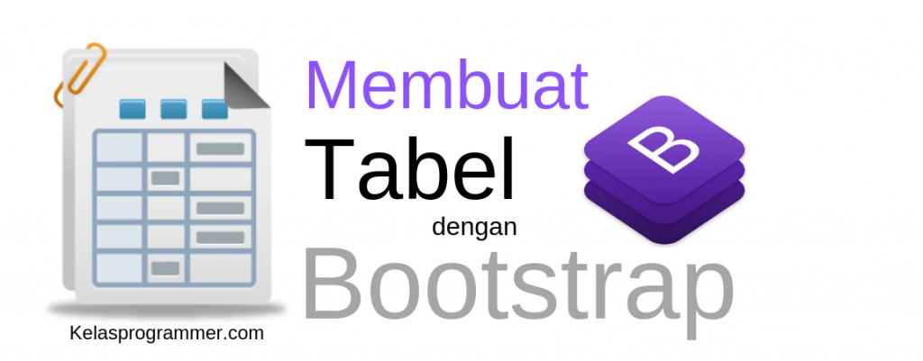 membuat tabel dengan bootstrap