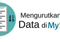 mengurutkan data di mysql