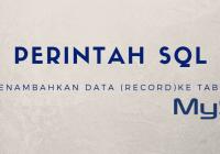 Perintah sql tambah data pada tabel mysql