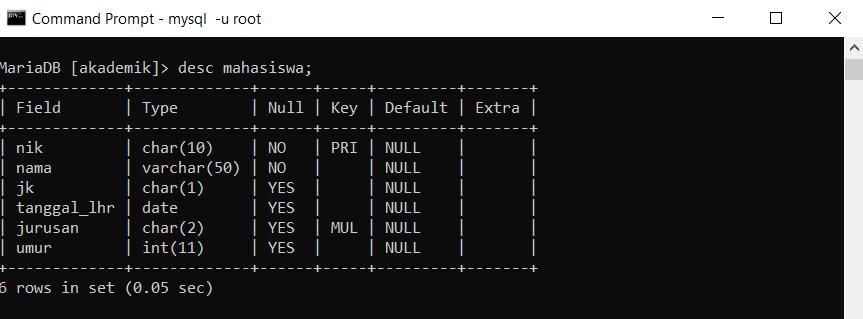Perintah Sql Menambah Data Ke Dalam Tabel Di Mysql