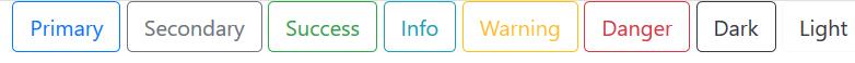 jenis tombol outline pada bootstrap