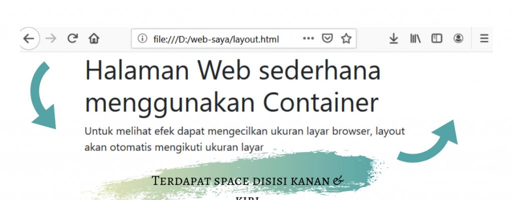 layout dengan container