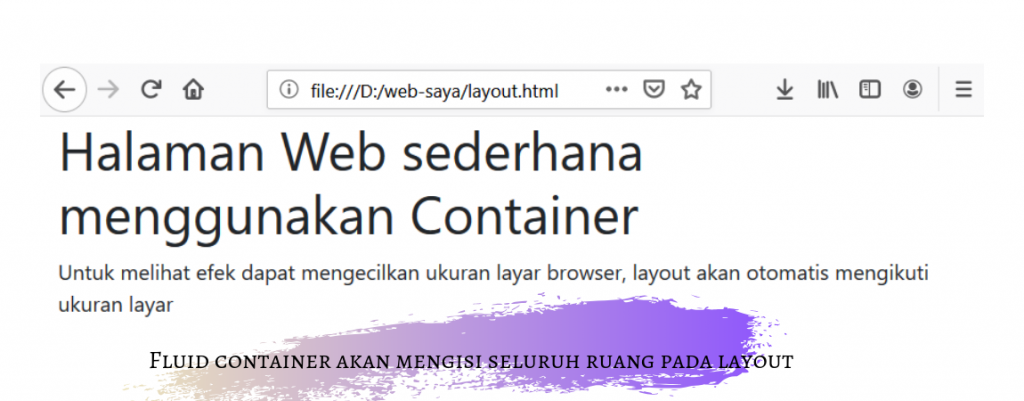 layout dengan container fluid
