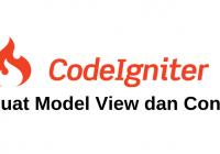 membuat model view controller codeigniter