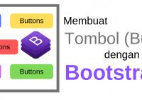 membuat tombol dengan bootstrap