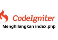 menghilangkan index php codeigniter