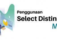 penggunaan select distinct di mysql