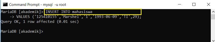 tambah data ke tabel tanpa spesifikasi kolom