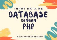 input data ke database dengan php