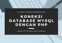 koneksi database dengan php