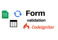 form validation codeigniter