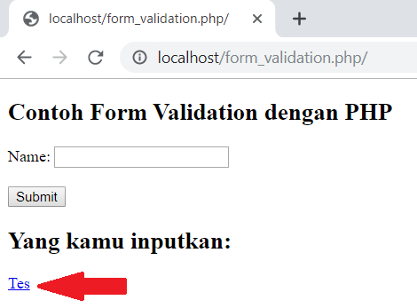 contoh form validation di php
