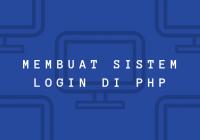 membuat login dengan php