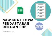 membuat form pendaftaran dengan php