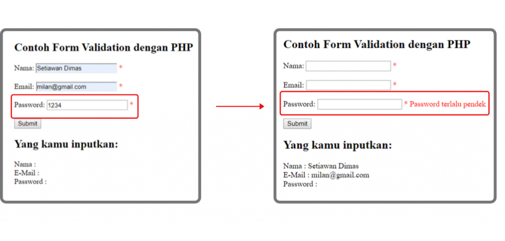 contoh form validation di php untuk password