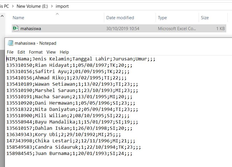 Cara Import Data Excel Ke Mysql Kelas Programmer