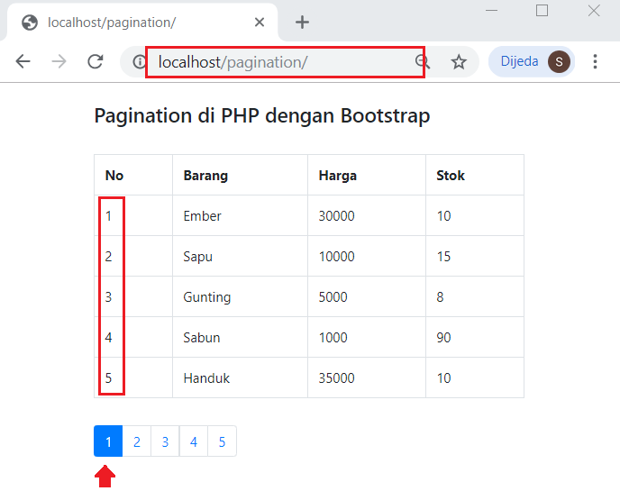 contoh pagination php