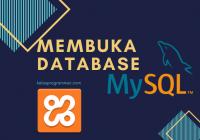 membuka database mysql di xampp