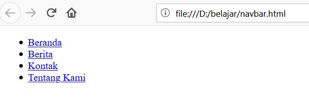 navbar html