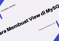 membuat view di mysql