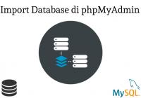 import database phpmyadmin