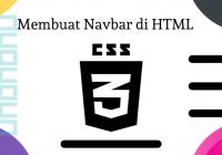 membuat navbar di html dengan css