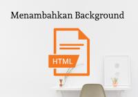 menambahkan background di html