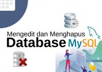 mengedit dan menghapus database
