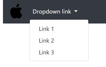 navbar dengan menu dropdown