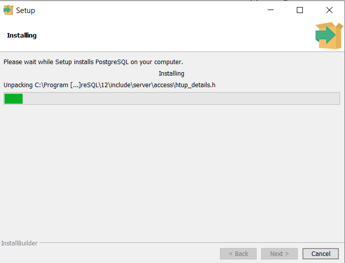proses instal postgresql di windows 10