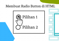 membuat radio button html