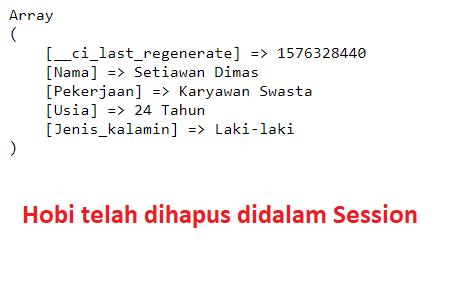 menampilkan nilai session codeigniter