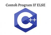 Contoh program C++ IF ELSE