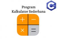 membuat kalkulator sederhana C++