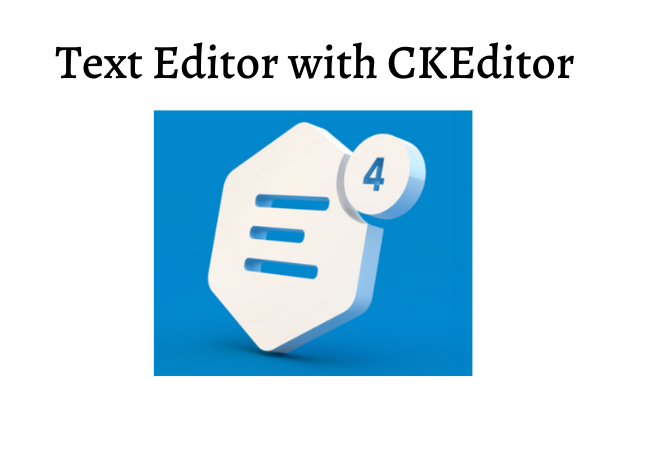 text editor with CKEditor 4