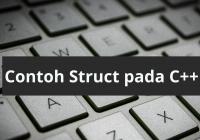 Contoh struct pada c++