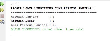 program java menghitung luas persegi panjang