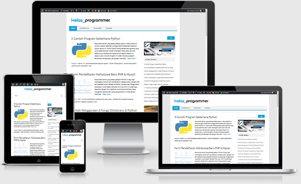 membuat layout web responsive dengan html dan css