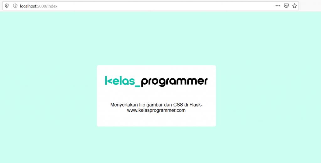 file gambar dan css yang disertakan pada aplikasi Flask