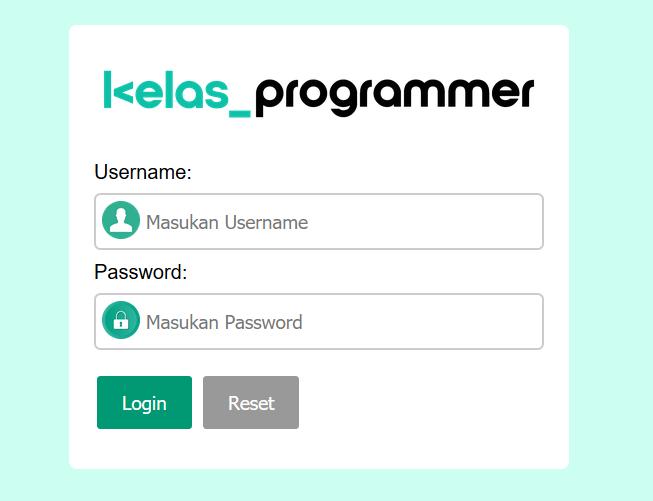 hasil desain form login di html dengan CSS
