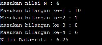 program pascal menghitung rata-rata dengan while do