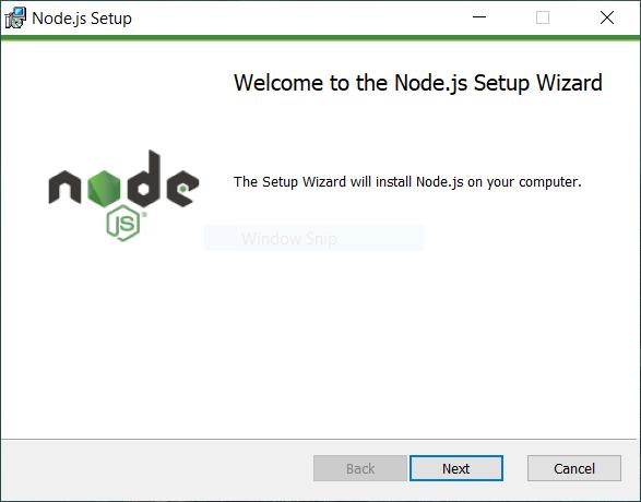 memulai menginstal node.js